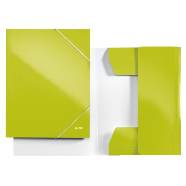 Mapa Carton Cu Elastic Leitz Wow - Verde Metalizat
