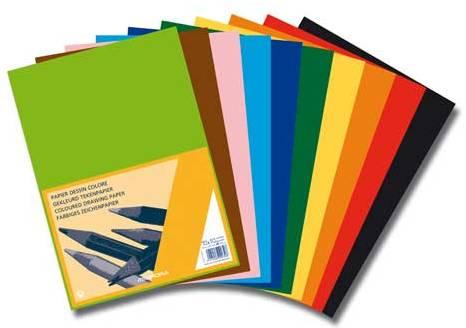 Carton Color A4  120g/mp - 500 Coli/top  Aurora Raphael - 10 Culori Intense