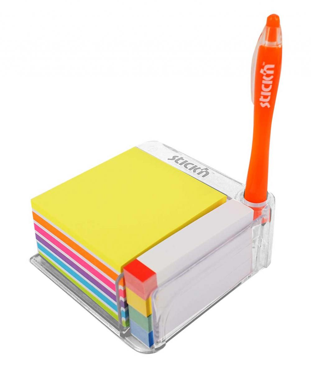 Notes Autoadeziv Cu Suport  76 X 76 Mm - 400 File/set  76 X 14 Mm - 380 File/set  Stickn - Culori A