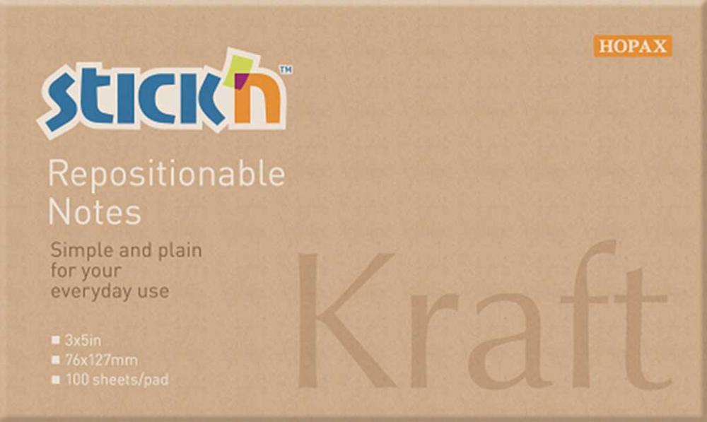 Notes Autoadeziv 76 X 127 Mm  100 File  Stickn - Kraft