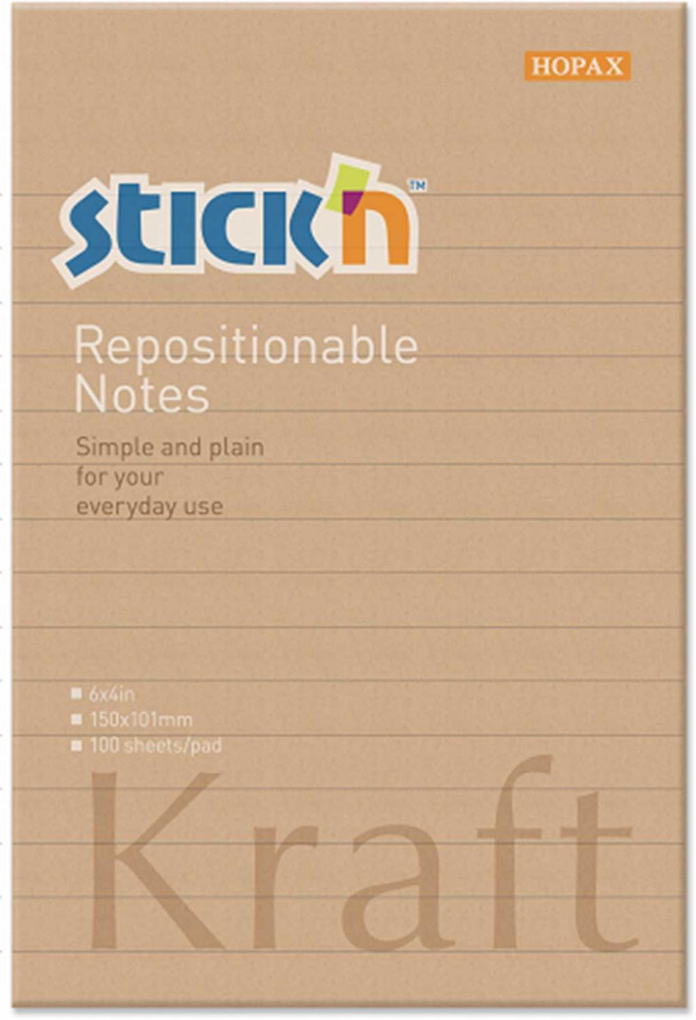 Notes Autoadeziv 150 X 101 Mm  100 File  Stickn - Kraft