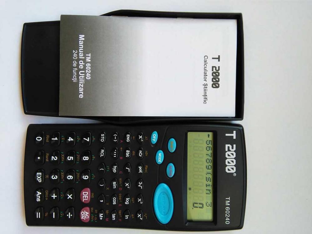 Calculator Stiintific  10+2 Digits 240 Functii   T2000