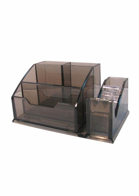 Suport De Birou + Dispenser Ark 2032 Plastic Transparent Fumuriu