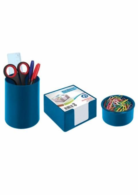 Set Birou Plastic Ark 1357 Albastru