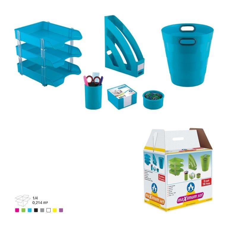 Set Birou Plastic Ark 1355 Albastru