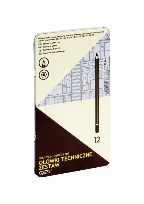 Set Creioane Grafit Diverse Tarii Grand 160-1619 12 Bucati/set