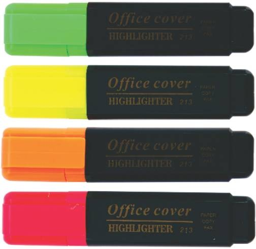 Textmarker Office Cover Ep10-0122  Galben