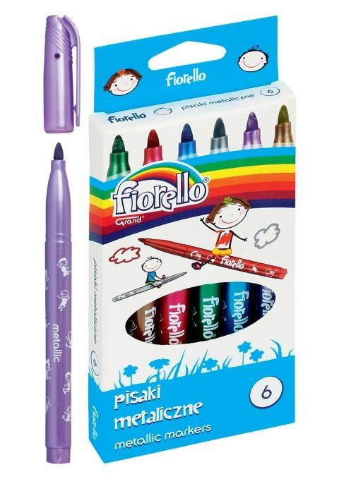 Marker Metalizat 6 Culori/set Fiorello Gr-129 160-1999