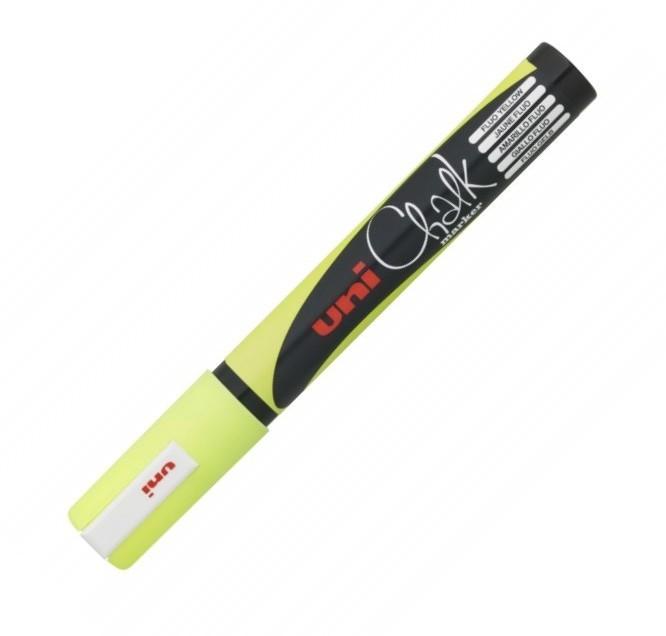 Marker Creta Uni Chalk Pwe-5m Galben Fluorescent