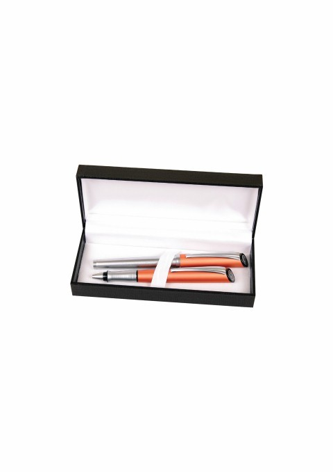 Set Stilou+pix Cresco City Ci-03 840006 - Box 31 Orange/pasta Albastru
