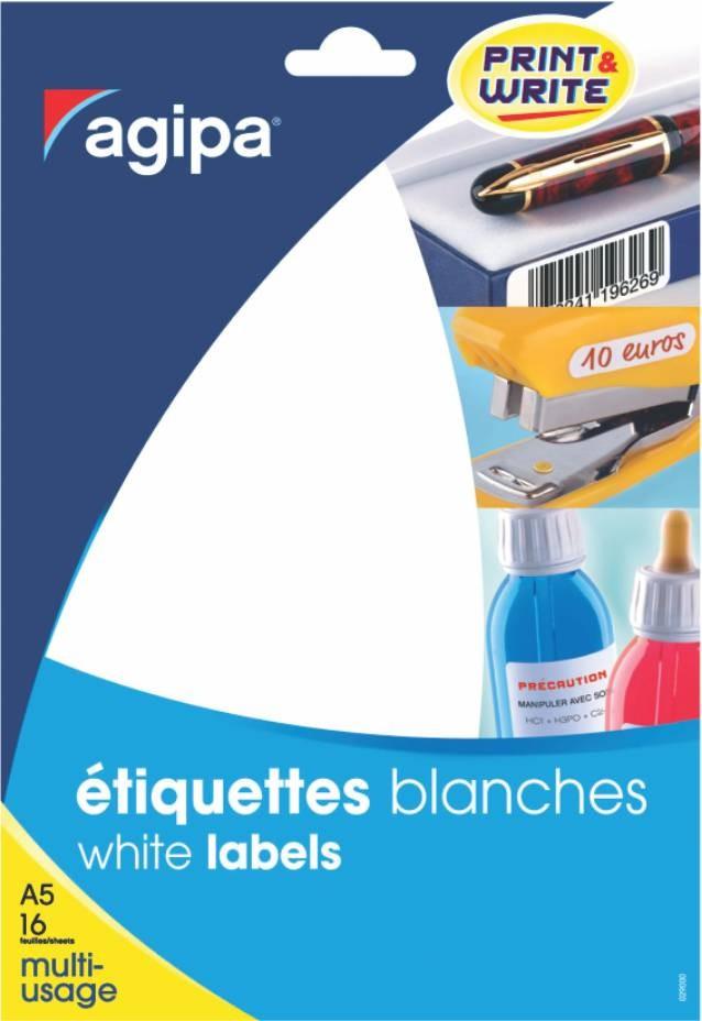 Etichete Rotunde 96/a5 D. 15mm 10 Coli Agipa 114314 Galben