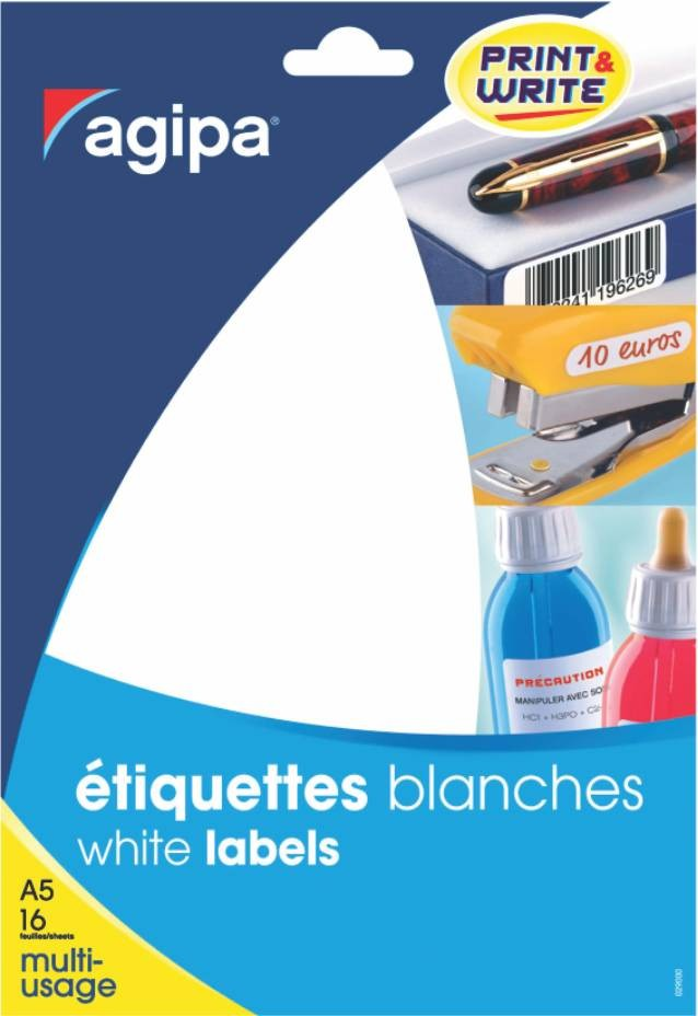 Etichete Rotunde 96/a5 D. 15mm 10 Coli Agipa 114312 Albastru