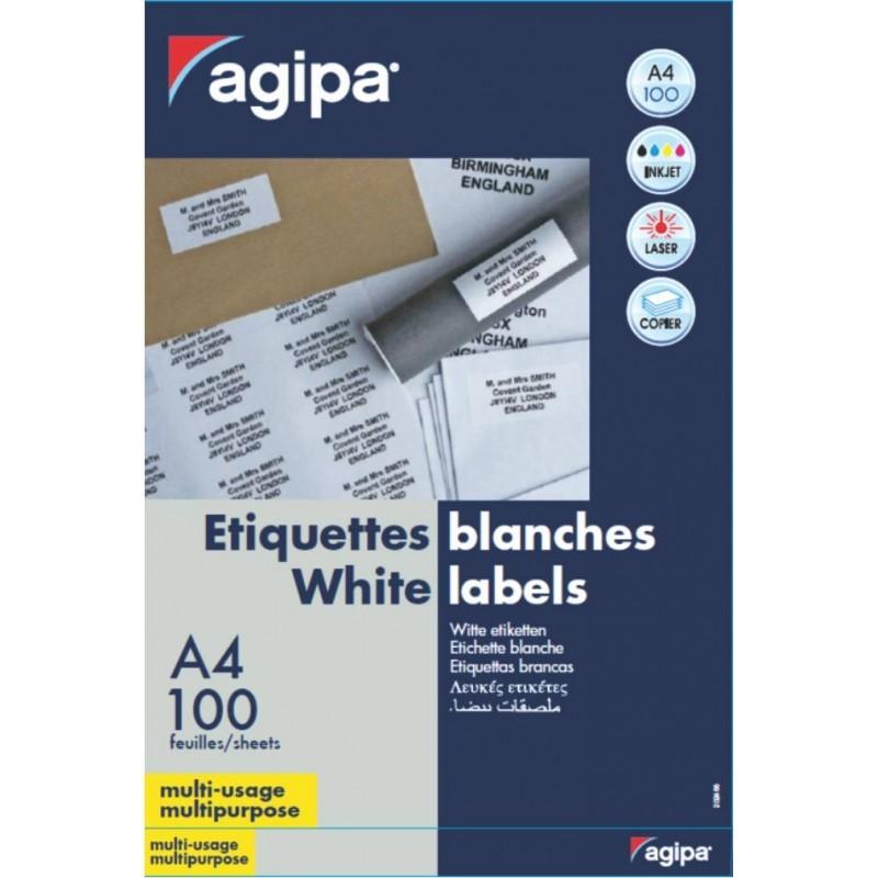 Etichete 27/a4 70x31mm 100 Coli Agipa 119030 Rosu