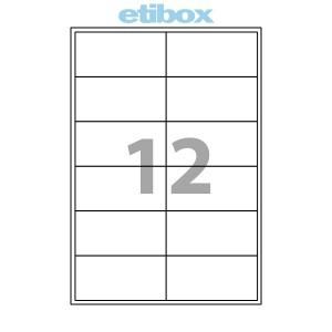 Etichete 12/a4 105x48mm 100 Coli Etibox 119774