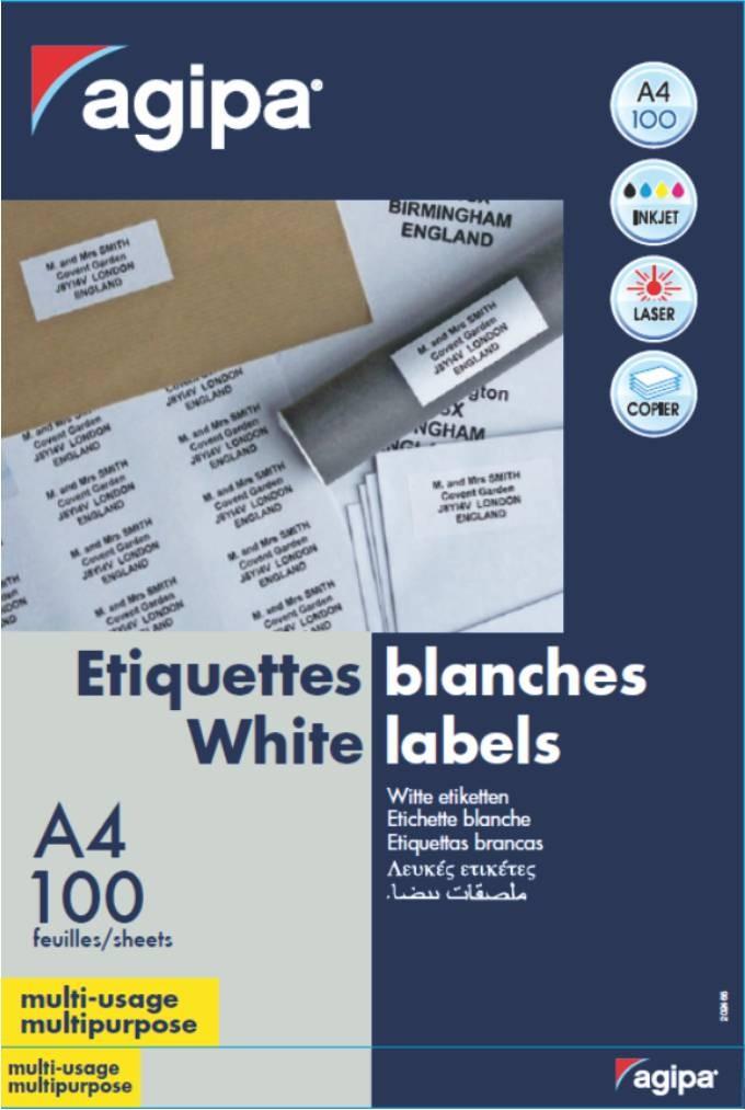 Etichete 1/a4 210x297mm 100 Coli Agipa 101125