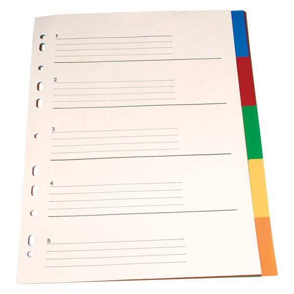 Separator A4 Plastic Noki 59115 5 Culori/set