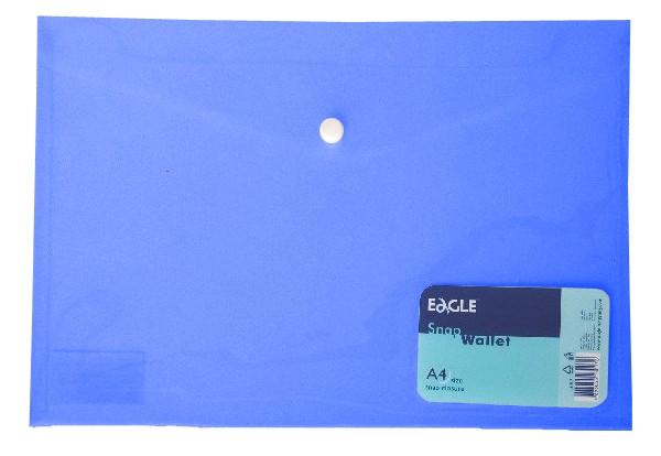 Mapa A4 Plastic Cu Capsa Eagle 13017 Albastru