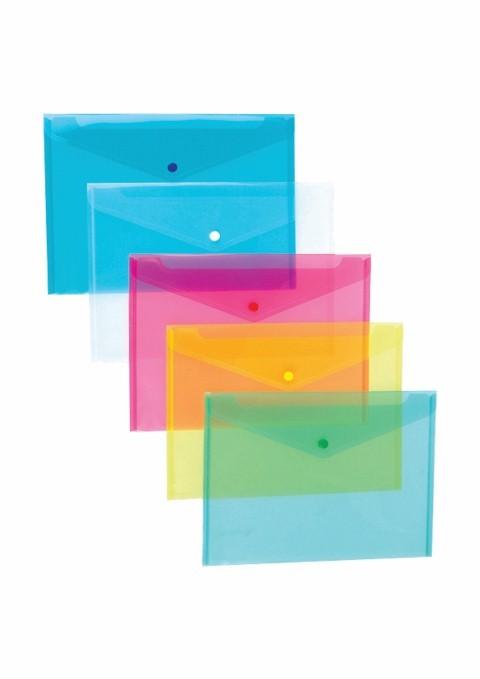 Mapa A4 Plastic Cu Buton Noki 3101 Albastru