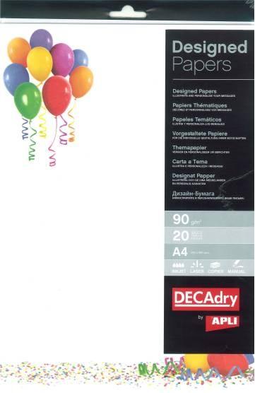 Hartie A4 Cu Model Decadry 12455 90g/mp 20 Coli Balon