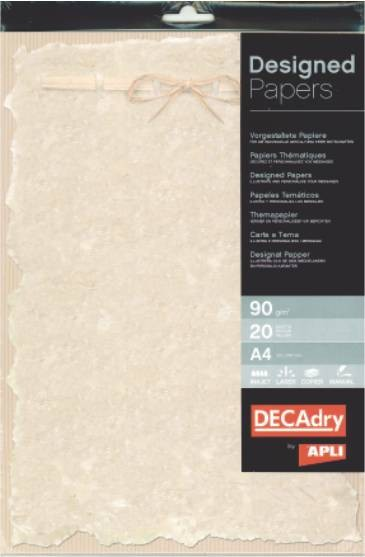 Hartie A4 Cu Model Decadry 12122 90g/mp 20 Coli Pergament