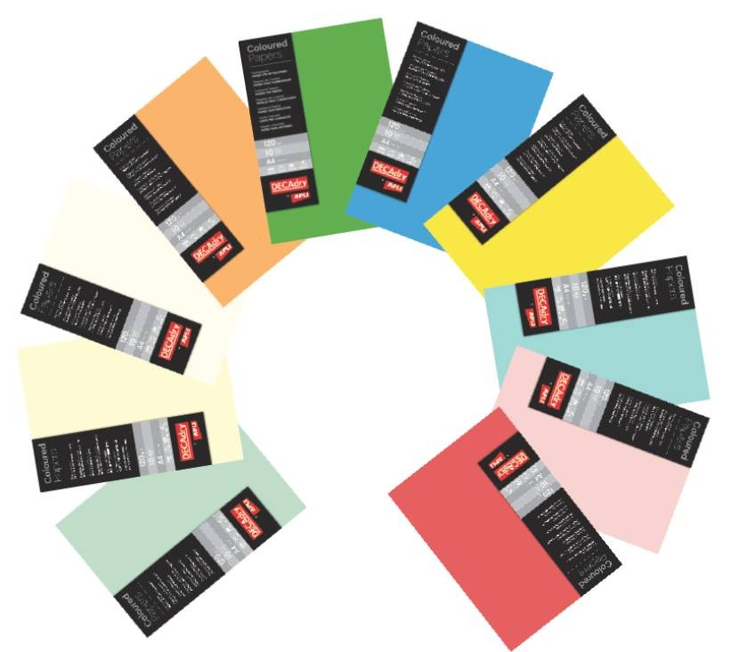 Hartie A4 Color Decadry 12176 120g/mp 10 Coli Verde Jad