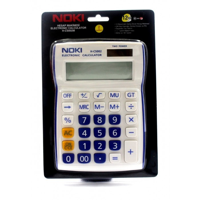 Calculator 12 Digit Noki H-cs002m Albastru