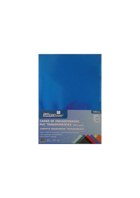 Coperta Indosariere A4 Pvc Office-cover 0.18 Mm Transparent Albastru 100/top