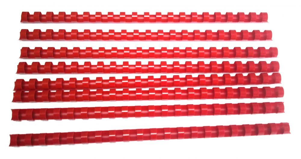 Spira Plastic 12mm Office-cover Rosu 100 Bucati/set