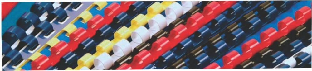 Spira Plastic 10mm Office-cover Alb 100 Bucati/set