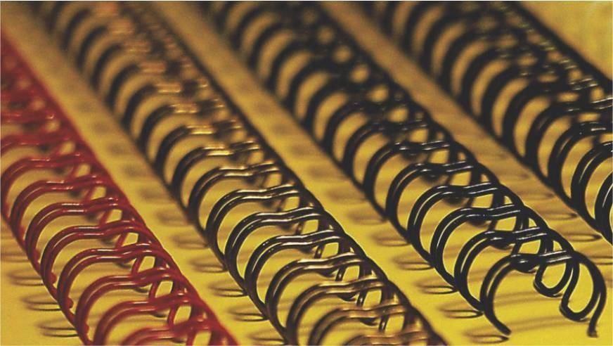 Spira Metal 14 3 Mm (9/16) Office-cover Alb 100 Bucati/set