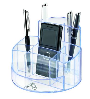 Suport Pentru Articole De Birou  Han Rondo - Transparent Cristal Cu Margine Albastra