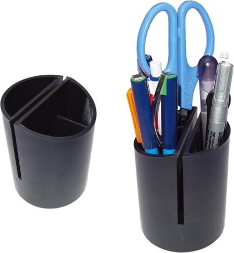 Suport Plastic Cilindric Pt  Instrumente De Scris-negru