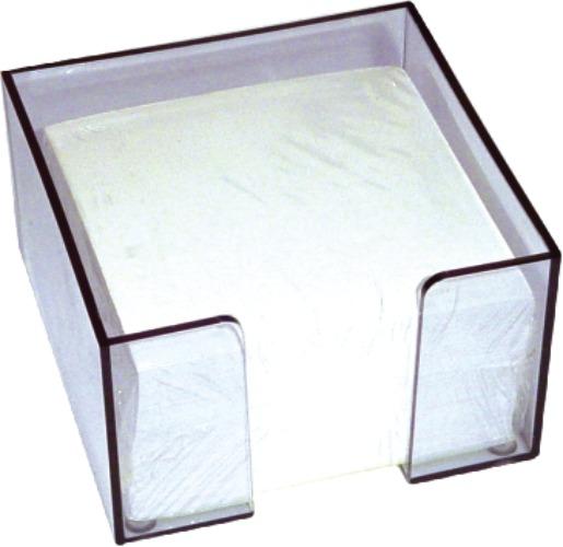 Suport Plastic Pt  Cub Hartie  9x9x7 Cm-transparent